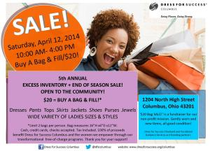 2014 April Bag Sale Flier